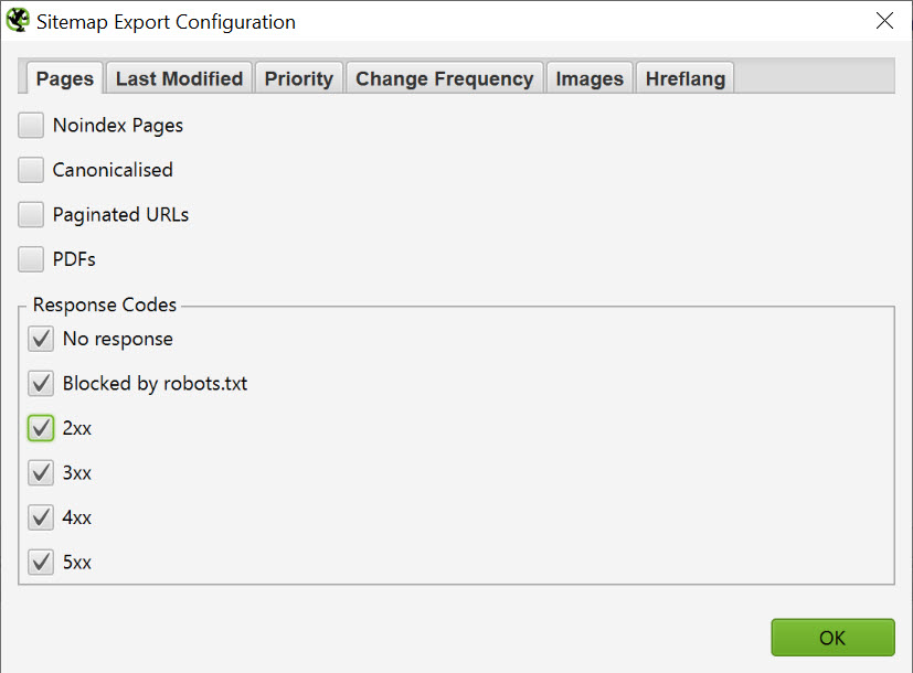 screamingfrog sitemap xml generator